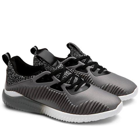 New Color Block Leopard Pattern Athletic Shoes - 43 GRAY Mobile