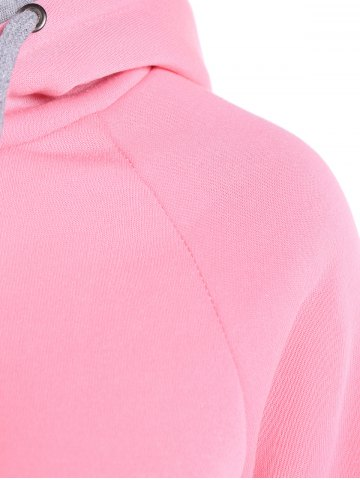 Hot Popular Double Hooded Drawstring Hoodie - M PINK Mobile