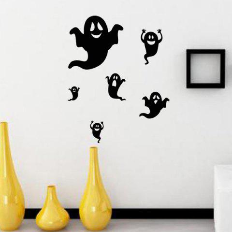 Sale Ghost Design Removable Room Halloween Wall Sticker BLACK