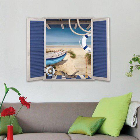 Buy Removable 3D Stereo Seaside Window Design Wall Stickers
