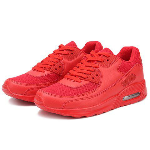 Shops Splicing Breathable Lace-Up Athletic Shoes - 43 RED Mobile