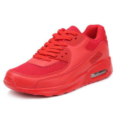 Outfit Splicing Breathable Lace-Up Athletic Shoes - 43 RED Mobile
