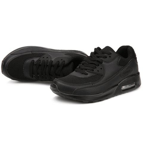 Outfits Splicing Breathable Lace-Up Athletic Shoes - 42 BLACK Mobile