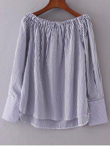 Store High Low Striped Blouse