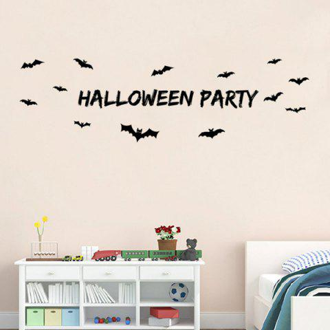 Affordable Halloween Party Letter Bat Design Living Room Wall Sticker