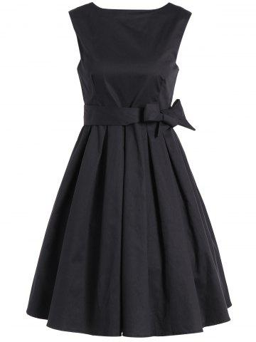 Sleeveless Vintage Semi Formal Little Black Dress