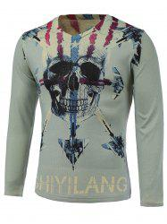 3D Skull Warcrafts Print American Flag Sweater