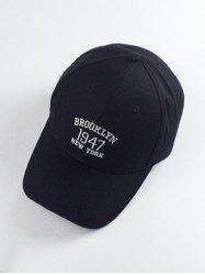 Year Numbers and Letters Embroidery Baseball Hat -