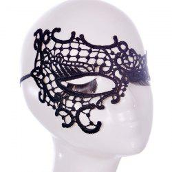 Évider Mask Party Lace Faux - Noir