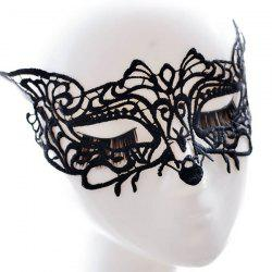 Fox Faux Lace Hallowmas Party Mask - BLACK