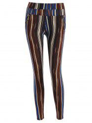 Stripe Pattern Empire Pants -