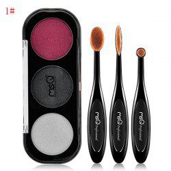 Shimmer Eyeshadow Palette and Toothbrush Shape Eyeshadow Brushes -