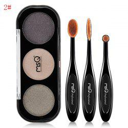 Shimmer Eyeshadow Palette and Toothbrush Shape Eyeshadow Brushes