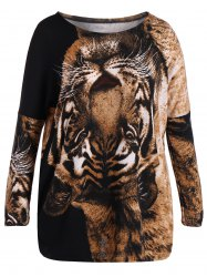 Plus Size Tiger Print T-Shirt