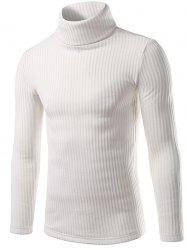 Turtle Neck Slimming Long Sleeve Knitting Sweater -