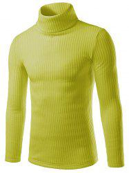 Turtle Neck Slimming Long Sleeve Knitting Sweater