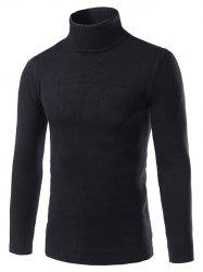 Turtle Neck Slimming Long Sleeve Sweater -