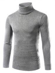 Turtle Neck Slimming Long Sleeve Sweater