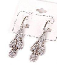 Rhinestone Layered Water Drop Earrings -
