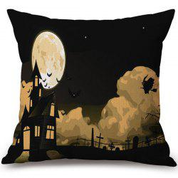 Soft Halloween Horror Night Printed Decorative Pillow Case - COLORMIX