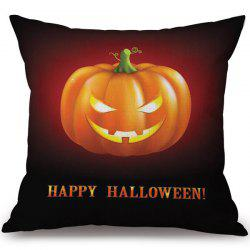 Soft Happy Halloween Pumpkin Printed Decorative Pillow Case -