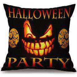 Soft Happy Halloween Party Printed Decorative Pillow Case - COLORMIX
