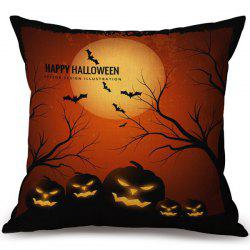 Happy Halloween Pumpkins Printed Pillow Case -