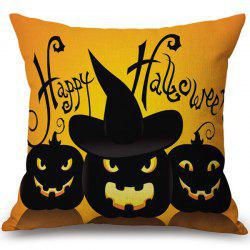 Hot Sale Happy Halloween Pumpkins Printed Pillow Case - COLORMIX