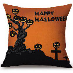Hot Sale Happy Halloween Pumpkins Ghost Printed Pillow Case -
