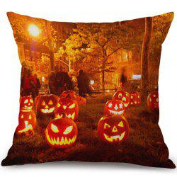 Happy Halloween Pumpkins Ghost Printed Pillow Case - COLORMIX
