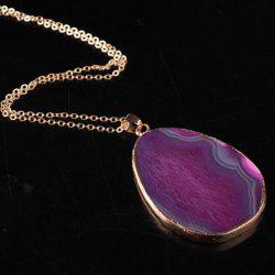 Irregular Faux Gem Pendant Necklace