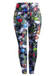 Christmas Printed Stretchy Slimming Leggings - COLORMIX