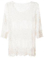 Hollow Out Smock Cover-Up -