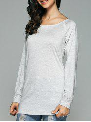 Open Back Long Sleeve T-Shirt