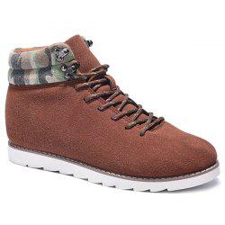 Metal Camouflage Pattern Lace-Up Casual Shoes - BROWN