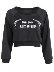 Active Round Neck Letter Pattern Sweatshirt