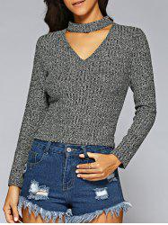 Slimming Zip Up Sweater - GRAY