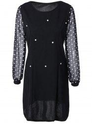 Polka Dot Spliced Slimming Dress