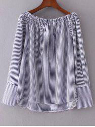 High Low Striped Blouse -