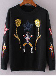 Cartoon Sequins Jumper -