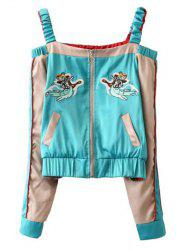 Cut Out Bomber Jacket -