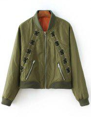Lacing Bomber Jacket -