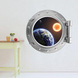 Removable 3D Space Capsule Planet Design Wall Stickers
