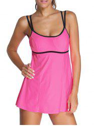 Halter Ruffle Padded Tankini With Underwire