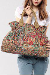 Tribal Print Ruched Tote Bag