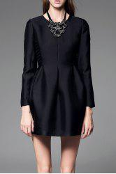 Long Sleeve Mini Tulip Dress -