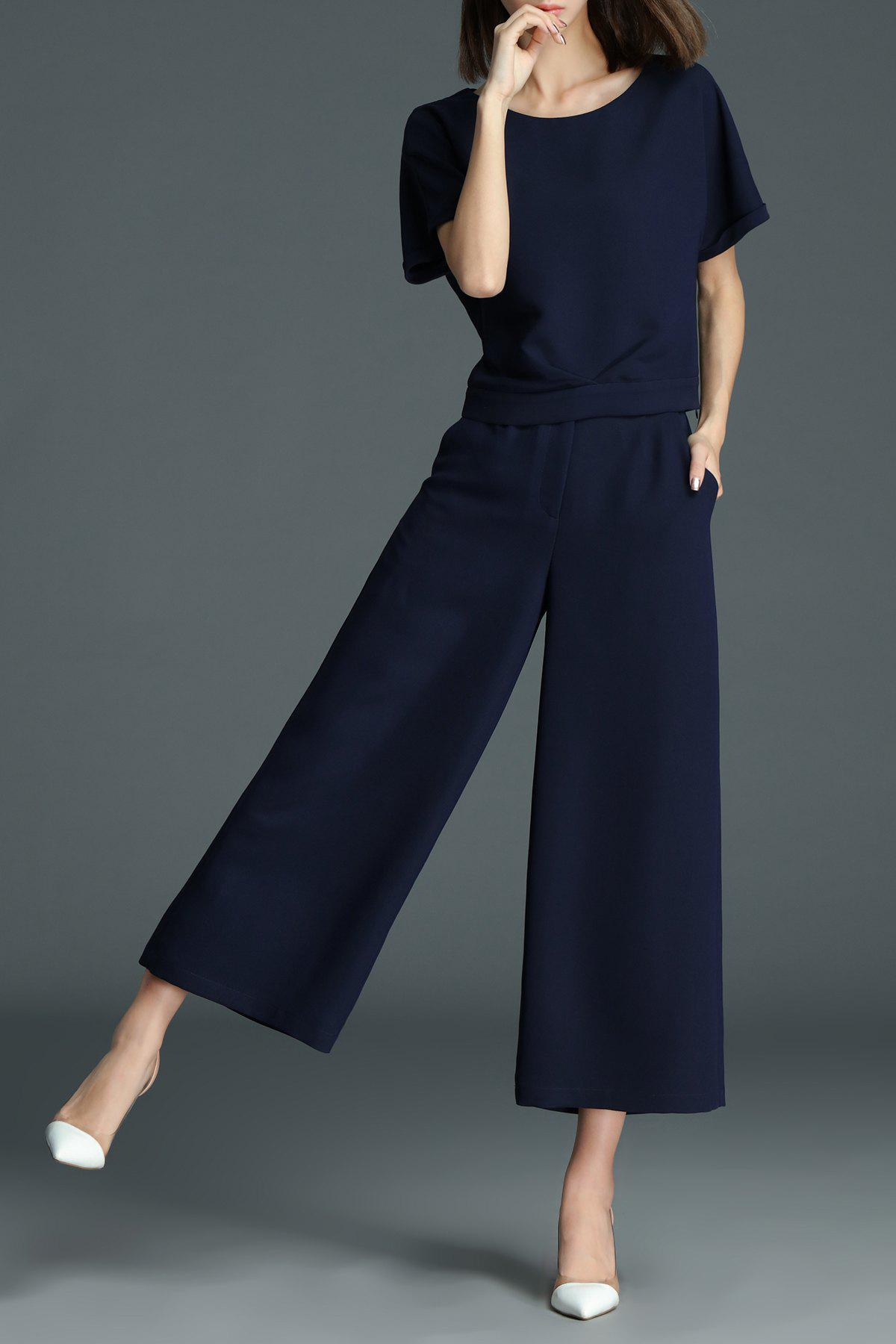 86 Off 2018 T Shirt With Palazzo Pants In Deep Blue