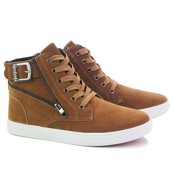 Fashion High Top Zipper Casual Shoes