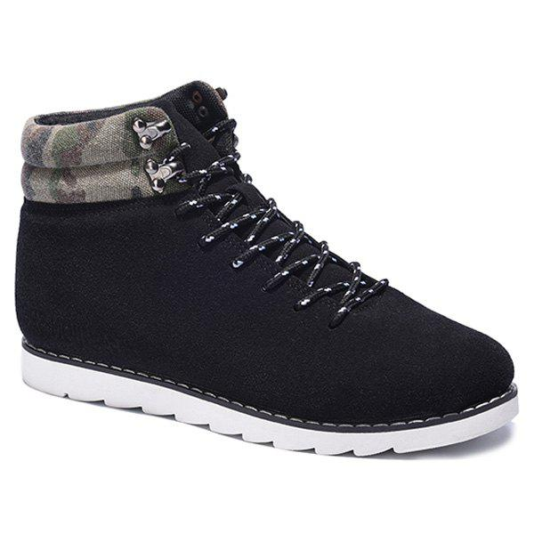 Sale Metal Camouflage Pattern Lace-Up Casual Shoes
