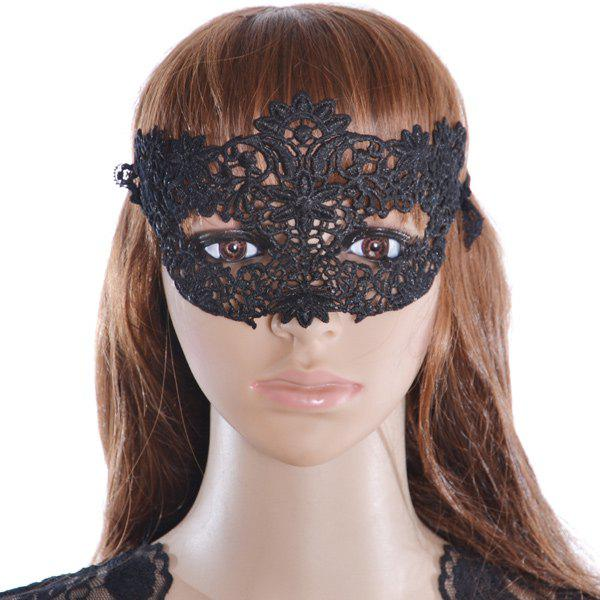 Unique Faux Lace Flower Hollow Out Party Mask